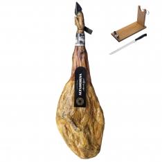 100% Pata Negra Schinken aus Eichelmast Altadehesa + Schinkenhalter + Messer
