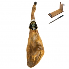 Pata Negra Schinken aus Eichelmast Dehesa Casablanca + Schinkenhalter + Messer