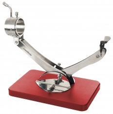 Gelenk-Schinkenhalter drehbar 360° Edelstahl rot Steelblade