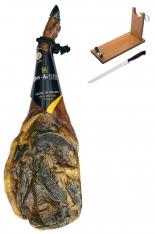 Pata Negra Schinken aus Eichelmast Don Agustín Höchste Qualität ganz (Vorderschinken) + Schinkenhalter + Messer