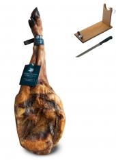 Pata Negra Schinken 100% Eichelmast Sánchez Romero Carvajal + Schinkenhalter + Messer (Vorderschinken)