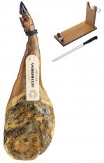 Pata Negra Schinken aus Wildpflanzenmast Altadehesa + Schinkenhalter + Messer