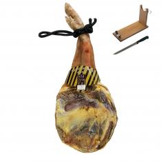 Serrano Schinken Reserva Mayoral (Vorderschinken) + Schinkenhalter + Messer